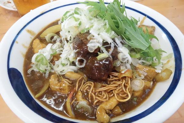 「【7月限定】揚げ蕎麦ぶっかけカレー南蛮 C」@MENYA 食い味の道有楽の写真