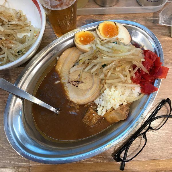「豚骨豚カレー」@野郎ラーメン 恵比寿西口店の写真
