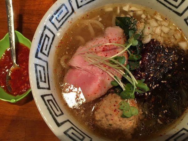 「【限定】ミーバビバッソ麺 980円」@麺家いなほの写真