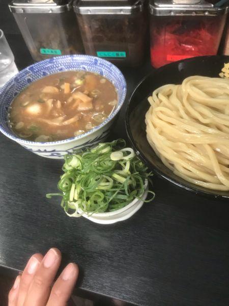 「Wスープつけ麺 中盛り ネギ」@無鉄砲 つけ麺 無極の写真