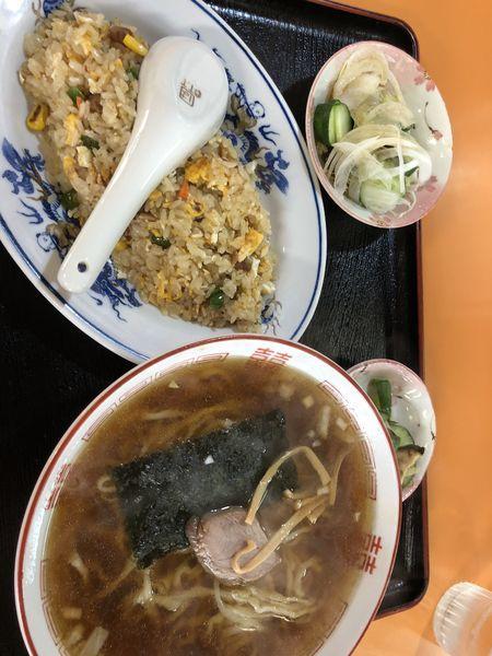 「醤油ラーメン(チャーハンセット)」@精養軒の写真