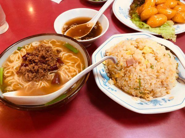 「台湾味噌ラーメン&チャーハン」@中国料理 味Aの写真