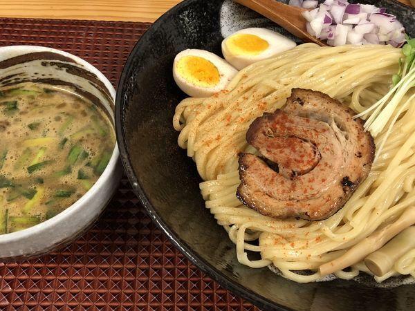 「にら辛つけ麺」@麺屋あげはの写真