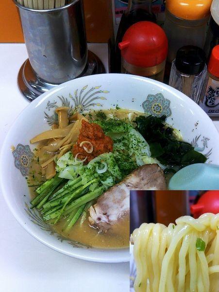 「冷し味噌ラーメン¥820」@修ちゃんラーメン 山形駅前本店の写真
