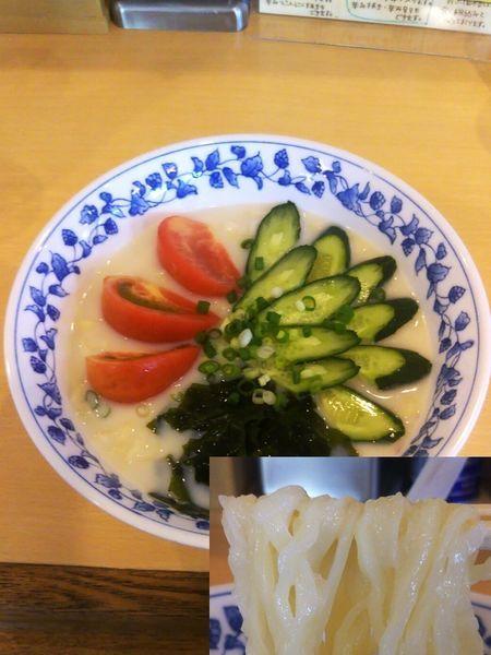 「(限定)冷し豆乳ラーメン¥800」@手打ちラーメンひろや食堂の写真