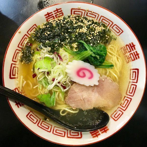 「中華そば(塩)680円」@自家製麺 KANARIの写真