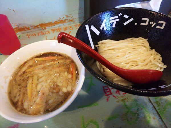 「魚貝豚つけ麺スパイシー750円」@つけ麺屋 丸孫商店の写真