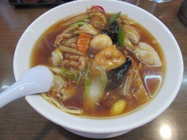 「うまに麺(770円)+餃子+ウーロン茶」@珍來 石岡店の写真