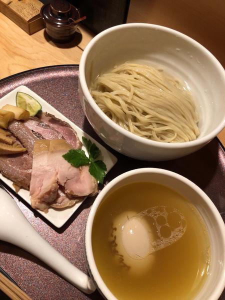 「特上つけ麺(塩)〜浅利出汁かけ〜1500円」@赤羽 山雄亭の写真