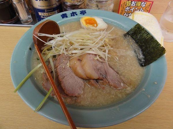 「チャーシュー麺800円 餃子3ヶ100円」@ラーメン青木亭 越谷店の写真