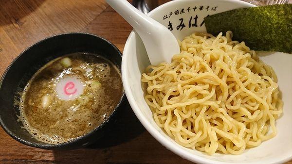 「梅香るつけめん(840円)」@江戸前煮干し中華そば きみはん 総本店の写真