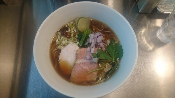 「【限定】鶏×鰹の冷たいスープラーメン」@Bonito Soup Noodle RAIKの写真