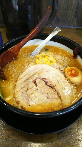 「特味噌背脂多目麺半分胡桃抜き」@味噌ラーメン専門店 日月堂 三郷店の写真
