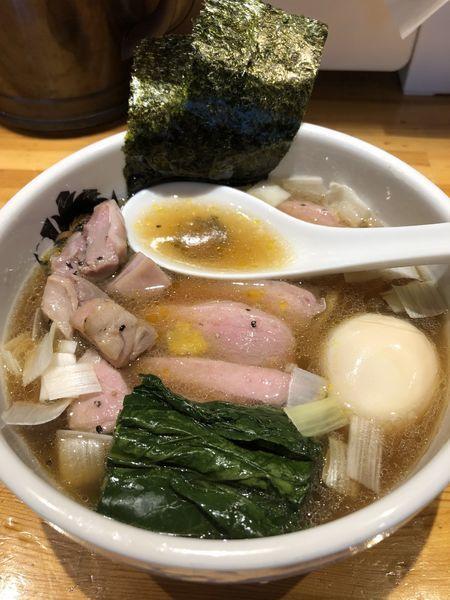 「特製鴨中華そば(醤油)+鴨雑炊丼(小)」@満鶏軒の写真