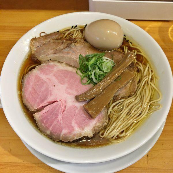 「煮玉子醤油(中盛)¥910+豚肩ロース煮豚¥70」@麺庵ちとせの写真