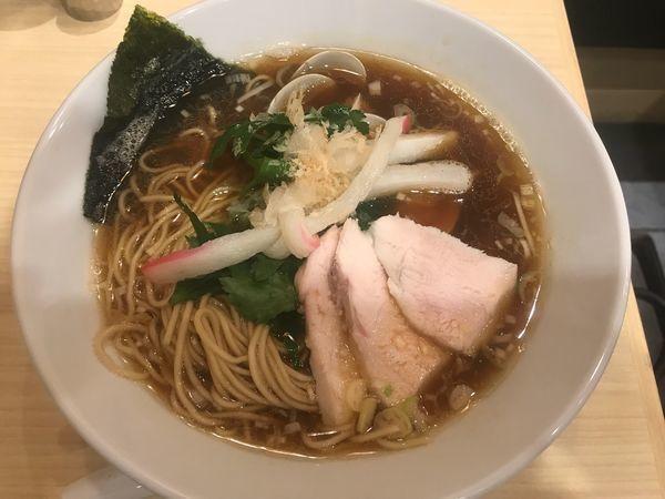 「蛤 煮干 鳥 トリプル」@むぎとオリーブ 日本橋店の写真
