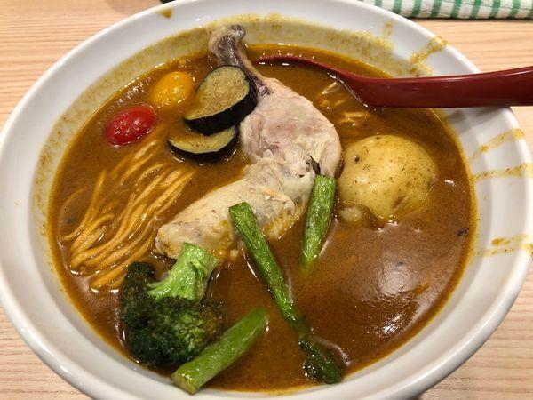 「焼き味噌スープカレー風ラーメン」@拉麺 大公の写真