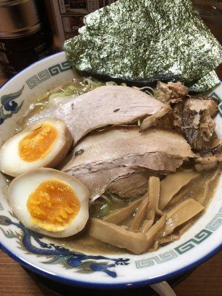 「こく煮干 にぼ飯セット+ネギ」@長尾中華そば 東京神田店の写真