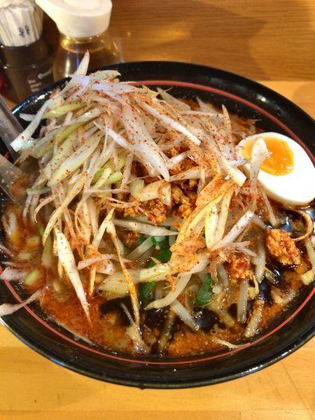 「120博多辛ネギ担々麺¥800」@博多担々麺 梟 東京五反田店の写真