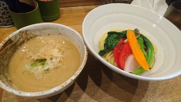 「無添加つけ麺(中盛)」@つけ麺 竹川の写真