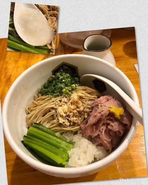 「鯛油そば (冷やしで) ¥700」@真鯛らーめん 麺魚の写真
