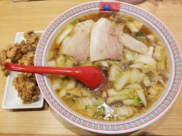 「からあげセット+麺大盛(1,230円)」@どうとんぼり神座 新宿店の写真