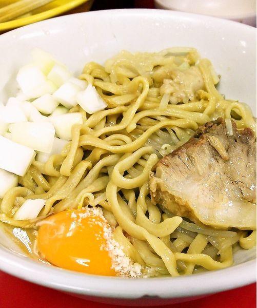 「小ラーメン(麺少なめ)+チーズ+玉ねぎ」@ラーメン二郎 茨城守谷店の写真