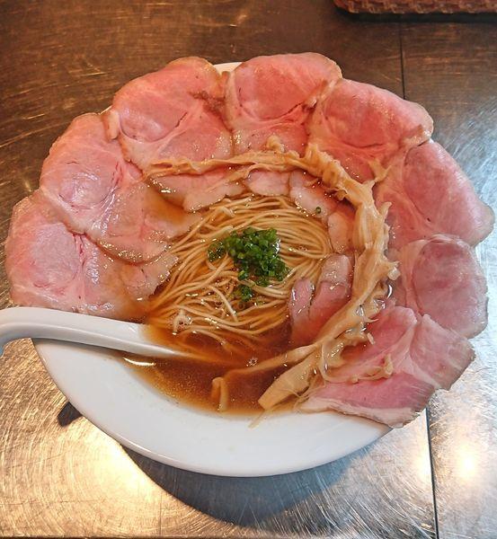 「煮干清湯(醤油)&肉増し」@さんじの写真