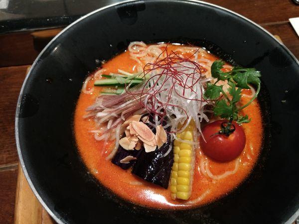 「冷やし担々麺」@新潟 三宝亭東京ラボ 中目黒店の写真