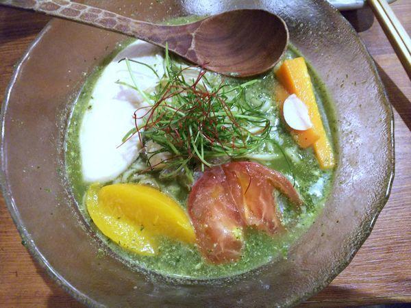 「【限定】冷やしジェノベーゼ鶏塩そば 980円」@鶏そばつけそば そるとの写真