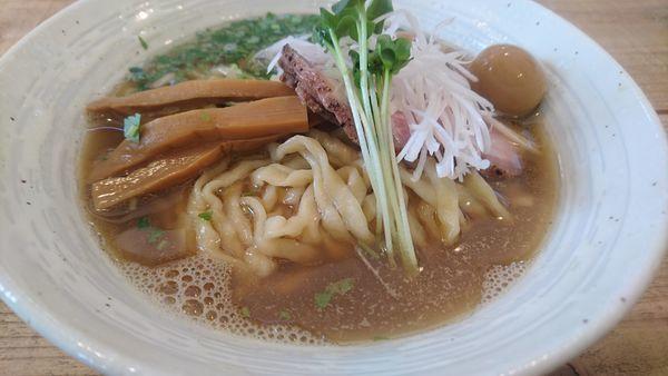 「らぁ麺(潮)+味付うずら」@The Noodles & Saloon Kiriyaの写真
