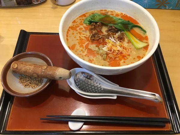 「發巳担々麺(800¥)平日11~15時半ライスサービス」@担々麺専門 發巳の写真