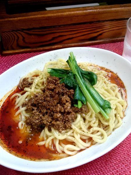 「濃厚汁なし担々麺」@麺や金時の写真