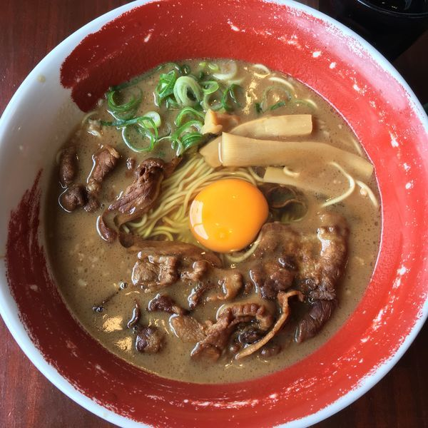 「肉入りラーメン」@徳島ラーメン 麺王 京都久世店の写真
