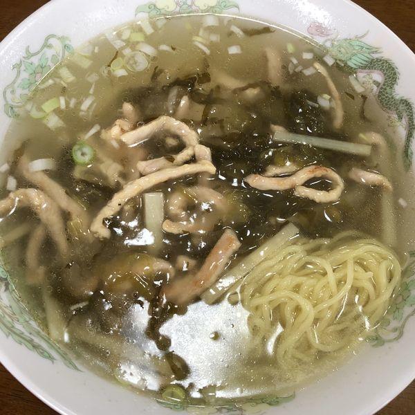 「細切り肉と高菜漬けそば(塩)」@中華 ヤマトの写真