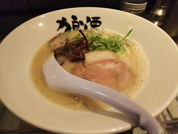「ら~めん670円+替え玉」@狼煙 諏訪店の写真
