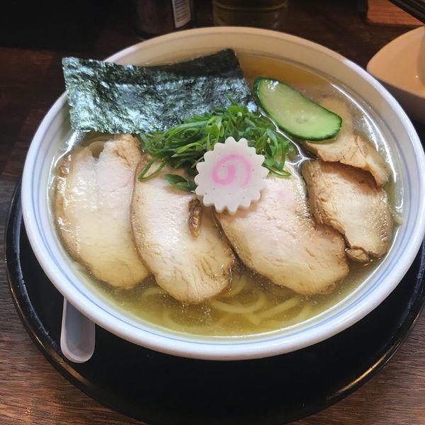 「冷やし肉そば」@東京煮干中華そば 三三㐂 大森の写真