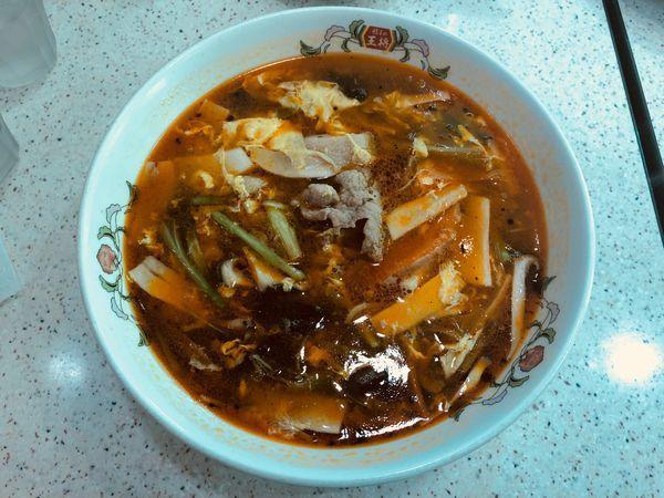 「サンラー湯麺」@餃子の王将 野田店の写真