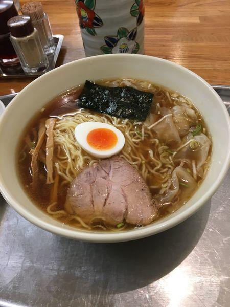 「小盛ワンタン麺」@大勝軒 昭島店の写真