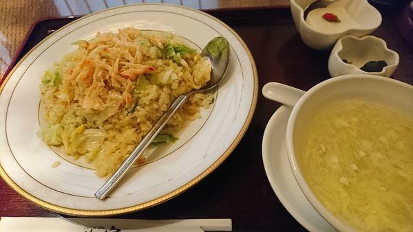 「蟹肉入りレタスチャーハン 900円」@珍宴の写真
