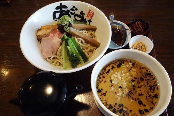 「【限定】辣塩豚骨つけ麺」@麺屋 あごすけの写真
