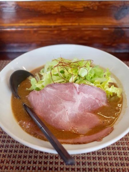 「とろみにぼし味噌麺 温…860円」@行雲流水の写真