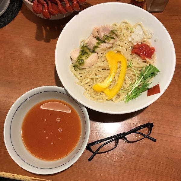 「冷やしトマト つけ麺」@東京の中華そば ちよがみの写真