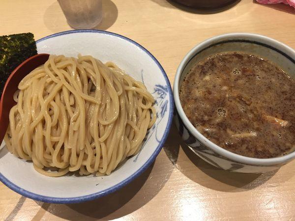 「濃厚魚介つけ麺」@麺屋 狢〜むじな〜の写真
