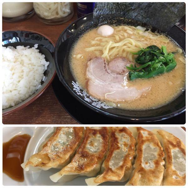「ラーメン+焼き餃子+ライス」@横濱家系ラーメン 綱島商店の写真
