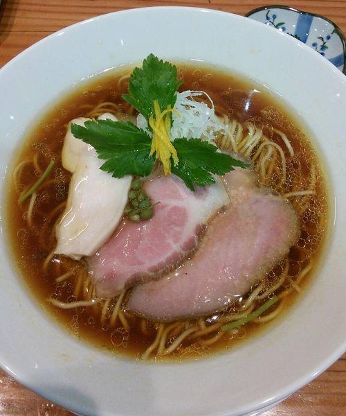「鶏そば(醤油)900円」@麺LABOひろの写真