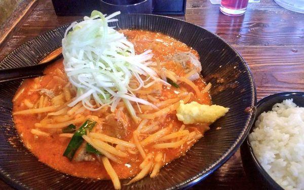 「辛味噌ラーメン+生姜」@大塚屋の写真