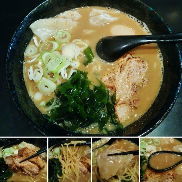 「ワンタンラーメン(並)+味玉=850円」@梶原製麺所 三ノ輪橋店の写真