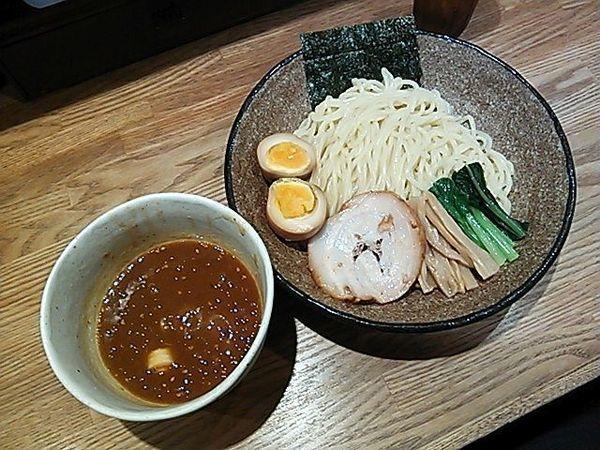 「辛つけめん+味玉」@麺屋ぬかじの写真