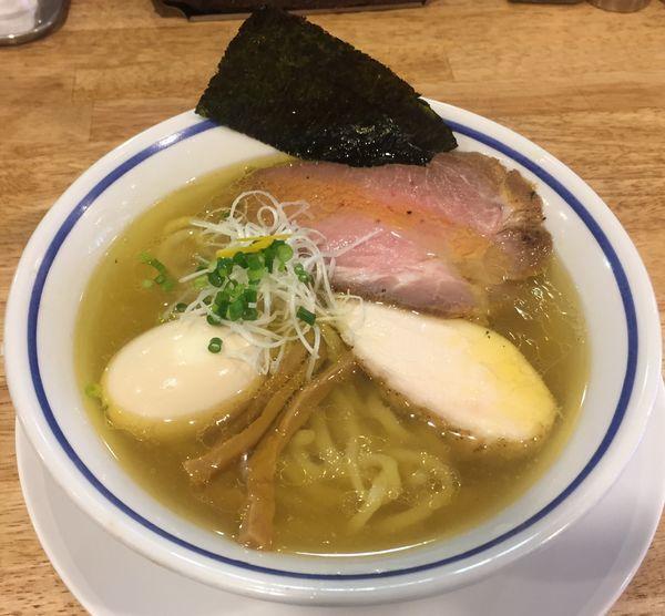 「煮玉子中華そば(塩)850円」@手打式 超多加水麺 ののくらの写真